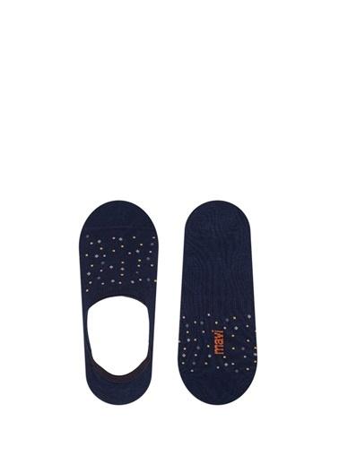 Mavi Puantiyeli  Çorap Lacivert